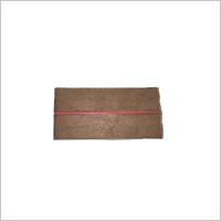 MRI Tan Red Piping Wallet