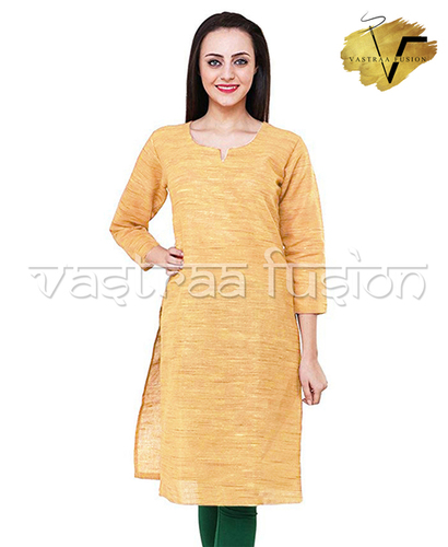 Khadi Look in Solid Colour South Cotton Kurti