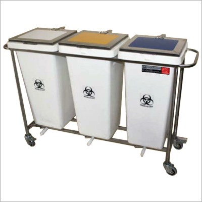 Hospital Dustbin With Trolley