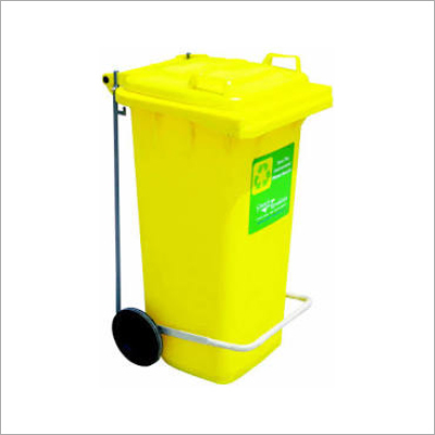 Yellow Plastic Dustbin