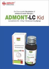 Levocetirizine 2.5mg + Montelukast 4mg./5ml Liquid