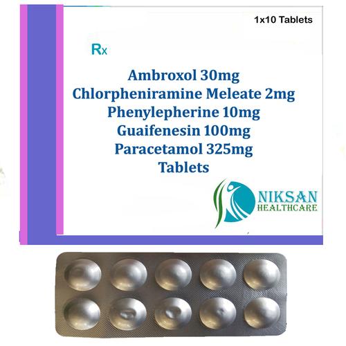 Ambroxol Chlorpheniramine Meleate Phenylepherine Tablets