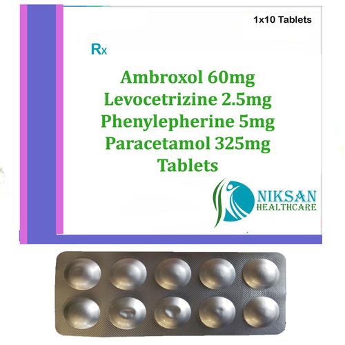 Ambroxol Levocetrizine Phenylepherine Paracetamol Tablets