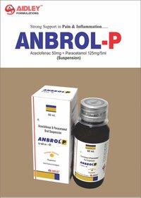 Aceclofenac 50mg + Paracetamol 125mg/5ml (Suspension)
