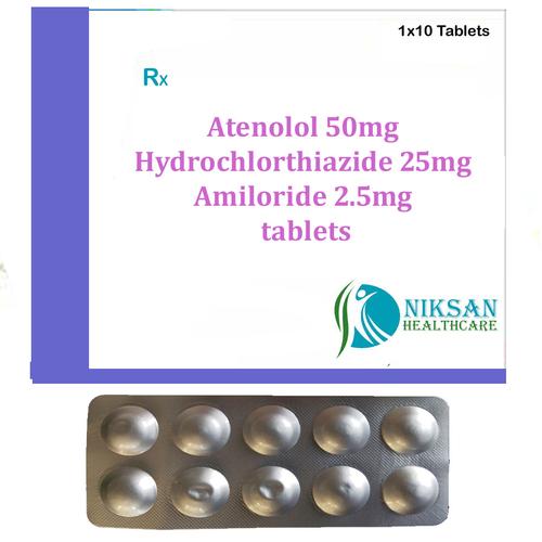Atenolol Hydrochlorthiazide Amiloride Tablets