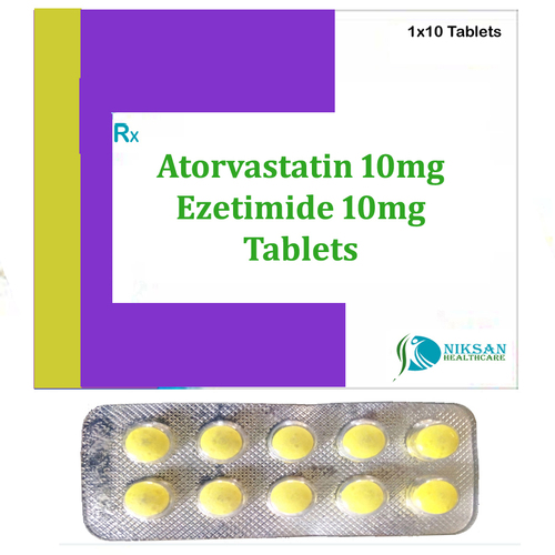 Atorvastatin 10mg Ezetimide 10mg Tablets