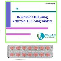 Benidipine Hcl-4Mg Nebivolol Hcl-5Mg Tablets