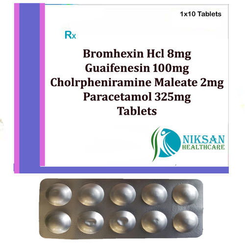 Bromhexin Hcl Guaifenesin Cpm Paracetamol Tablets