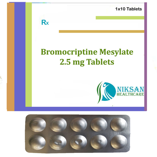 Bromocriptine Mesylate 2.5 Mg Tablets