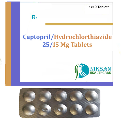 Captopril 25 Mg Hydorchlorthiazide 15 Mg Tablets