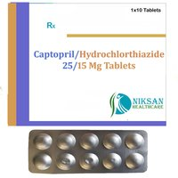 Captopril 25 Mg Hydorchlorthiazide 15 Mg Tablets