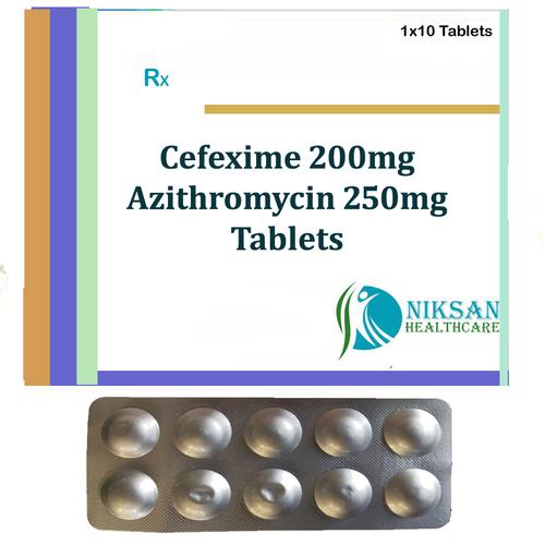 Cefixime 200Mg Azithromycin 250Mg Tablets