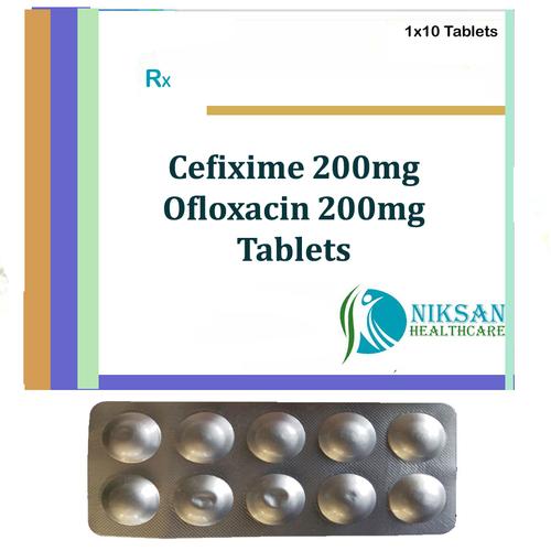 Cefixime 200Mg Ofloxacin 200Mg Tablets