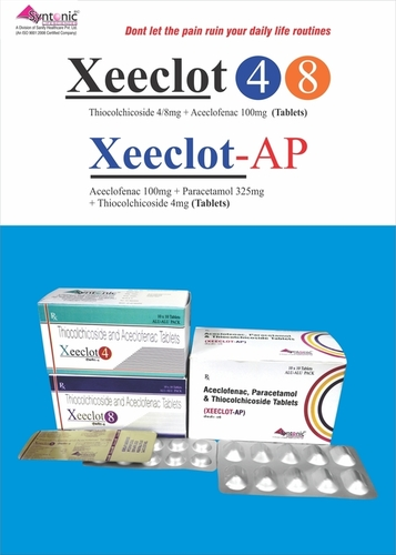 Thiocolchicoside 8mg + Aceclofenac 100mg Tablets