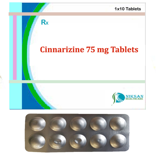 Cinnarizine 75 Mg Tablets