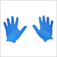 Sky Blue Cotton Knitted Gloves