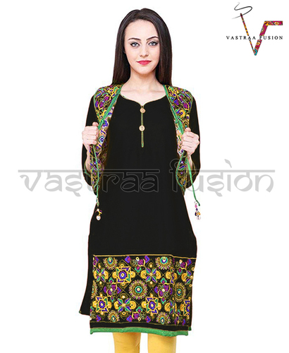 Ladies Embroidery Work With Matching Jacket Kurti