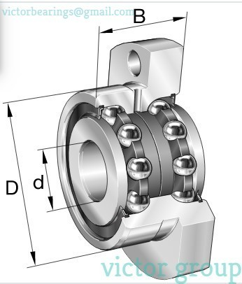 INA Angular contact ball bearing ZKLFA-2Z SERIES
