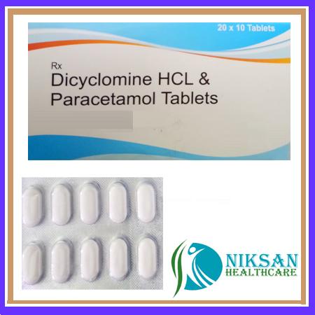Dicyclomine Paracetamol Tablets