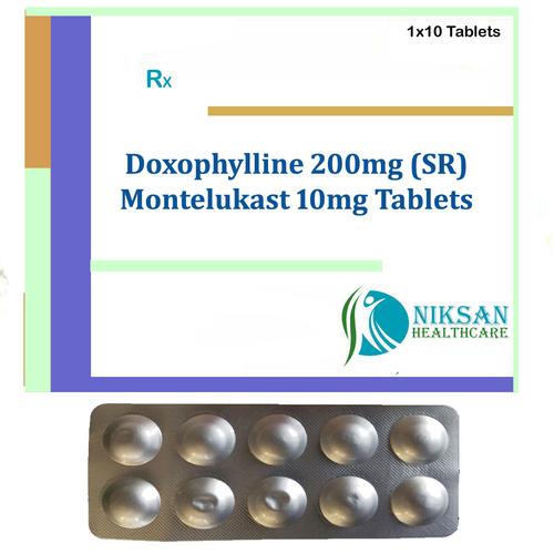Doxophylline 200Mg (Sr) Montelukast 10Mg Tablets