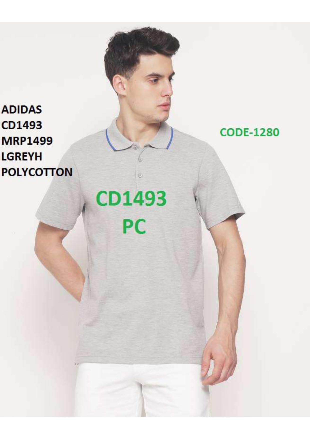 Adidas Black logo T Shirt
