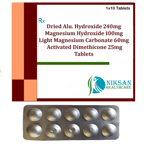 Aluminium Hydroxide Magnesium Dimethicone Tablets
