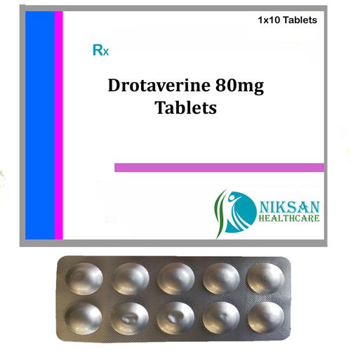 Drotaverine 80Mg Tablets