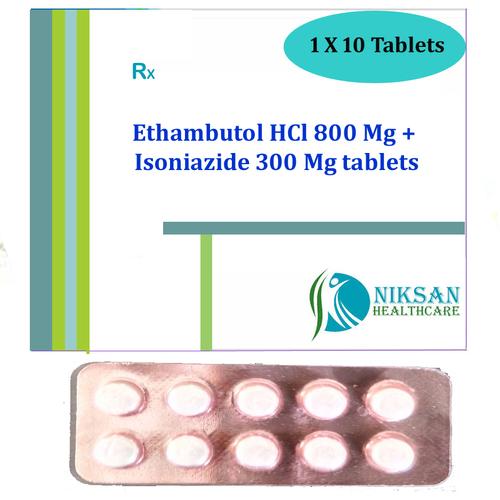 Ethambutol Hcl 800 Mg Isoniazide 300 Mg Tablets