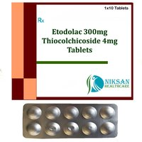 Etodolac 300Mg Thiocolchicoside 4Mg Tablets