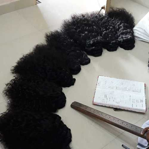 Raw curly weft Hair bundles