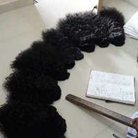Raw curly weft bundles