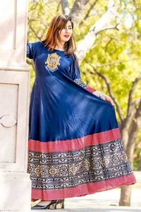 Designer Blue Color Kurti