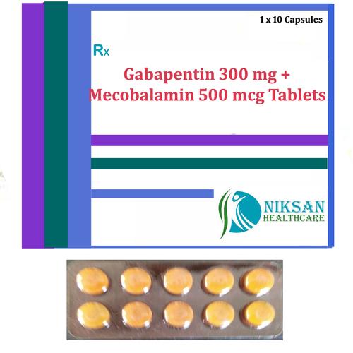 Gabapentin 300 Mg Mecobalamin 500 Mcg Tablets
