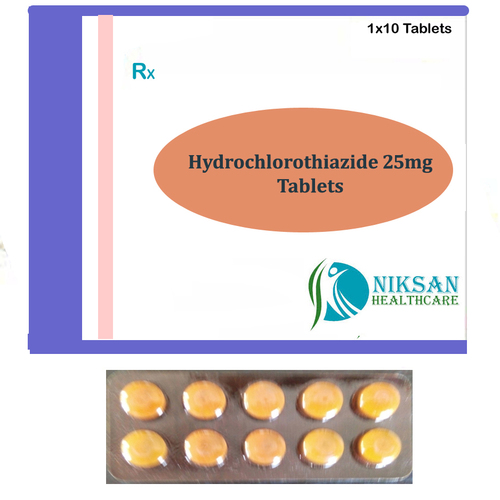 Hydrochlorothiazide 25Mg Tablets