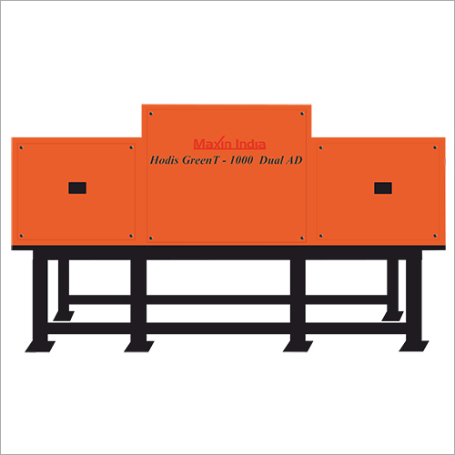 1000 Dual AD MSW And Plastic Shredder Machine