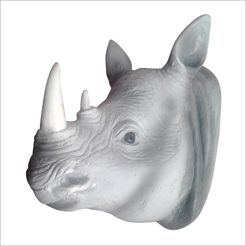 Rhino Face Wall Hanging Decor