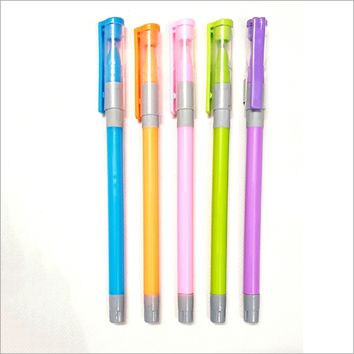 Blue Ink Plastic Body Pen