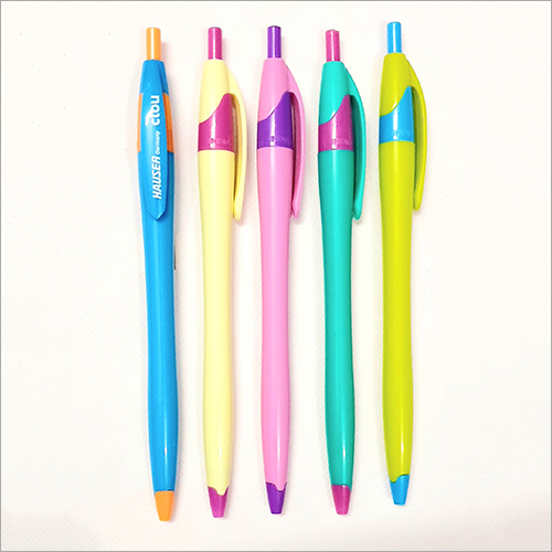 Colored Ink Plastic Body Pen