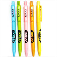 Colored Ink Retractable Plastic Body Pen