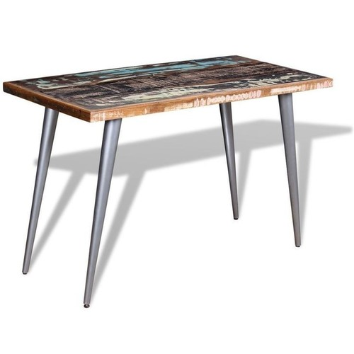 Reclaimed Wood Iron Dinning Table