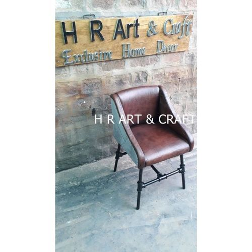 Modern Metal & Leather Dining Chair