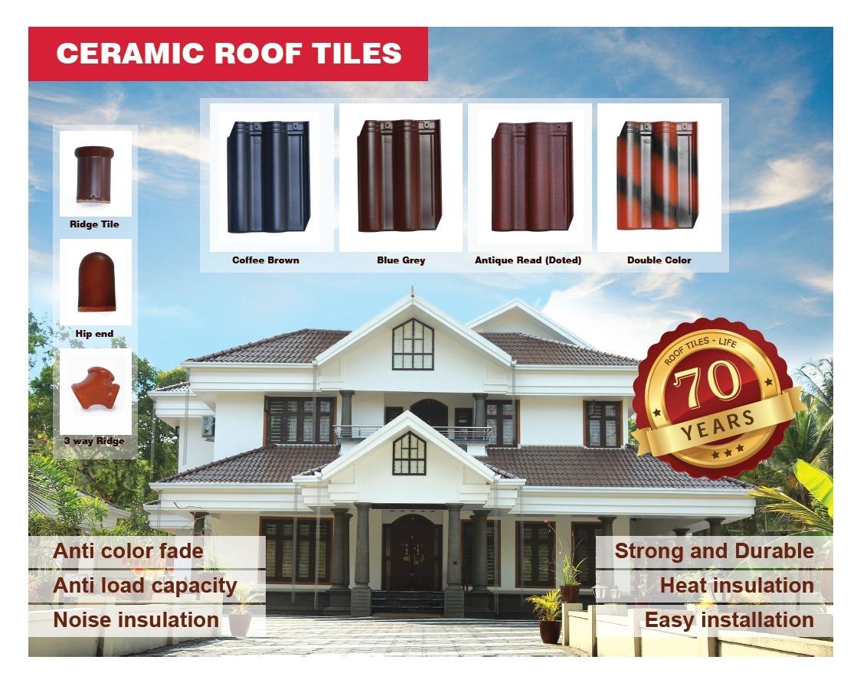 Blue Grey Ceramic Roof Tile