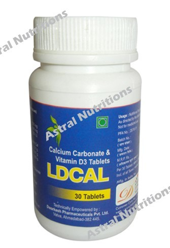Calcium carbonate vitamin