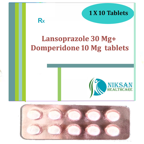Lansoprazole 30 Mg Domperidone 10 Mg Tablets