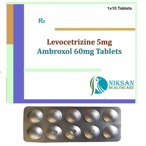 Levocetrizine 5Mg Ambroxol 60Mg Tablets