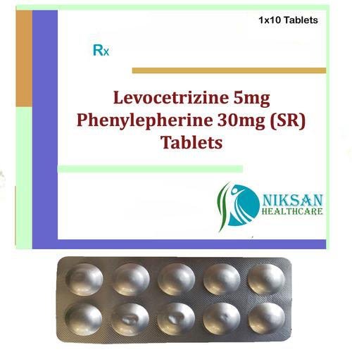 Levocetrizine 5Mg Phenylepherine 30Mg (Sr) Tablets