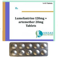 Lumefantrine 120Mg Artemether 20Mg Tablets