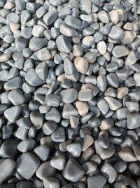 High Polished Smokey Grey round natural Pebble Stone