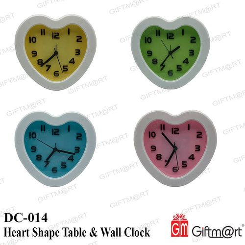 Heart Shape Table Clock