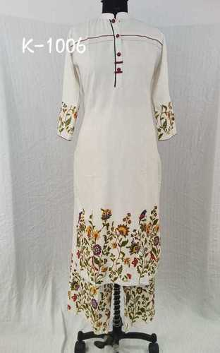 AS Creation White Embroidery Kurti - Buy Diwali Festival Clothes Online Shopping India